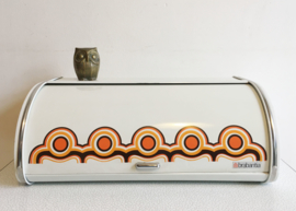 Vintage Brabantia broodtrommel, serie Bayon. Groot retro bewaarblik.