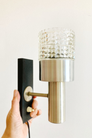 Vintage wandlampje met glazen kelk. Retro design nachtlampje, Raak?