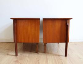Set vintage nachtkastjes – Louis van Teeffelen - Wébé ?  Houten Mid Century design kastjes