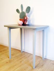 Stoere industriële vintage tafel. Metalen werkplek/bureau, Gispen?