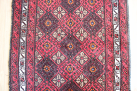 Vintage Oosters vloerkleed, Belouch? Handgemaakt Bohemien tapijt.