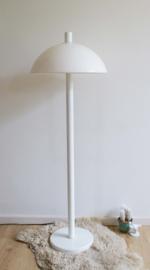 Witte vintage Herda vloerlamp. Staande Mushroom lamp met retro design