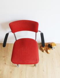 Vintage desk chair met armleggers. Retro design stoel, Gispen?