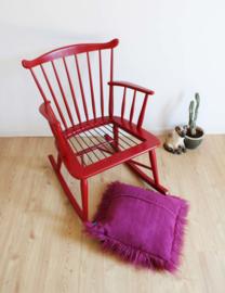Rode vintage schommelstoel, Børge Mogensen? Retro design  rocking chair