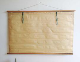 Oude retro schoolplaat - Van Goors Mammoetwet. Vintage wandkaart/pull down chart