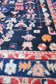 Handgemaakt vintage Oosters tapijt. Kleurrijk Perzisch kleed met Dobby ;)