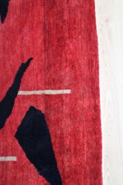 Kleurrijk Perzisch vintage kleed, Gabbeh. Handgemaakt Bohemien tapijt.