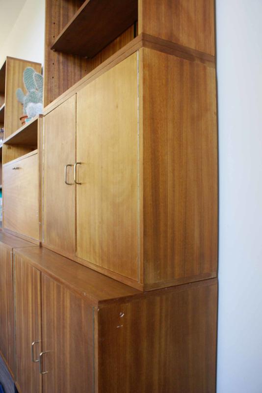 Houten Vintage Kasthigh Board Met Barretje Jaren 5060