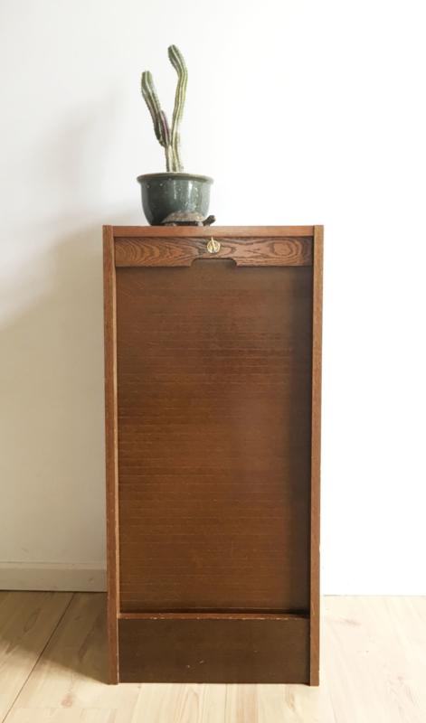 Fonkelnieuw Uniek vintage kastje van met roldeur. Kleine houten retro kast EI-63