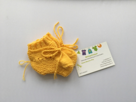 Baby Slofjes Okergeel - 100% Wol