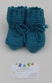 Baby Slofjes Blauw 100% Wol