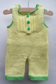 Baby Boxpakje Geel met Groene bies