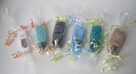 Spenenketting Beige, Wit, Blauw, Mintgroen, Grijs & Donkergroen