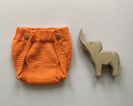 Overbroekje dubbel gebreid - Newborn - Orange  - 100% Wol