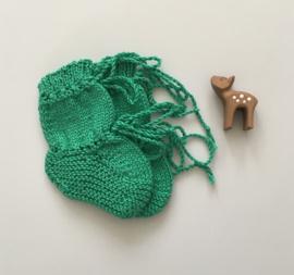 Baby Slofjes Groen, maat 0-3 mnd