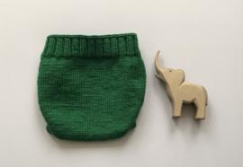 Overbroekje dubbel gebreid - Groen- 100% Wol