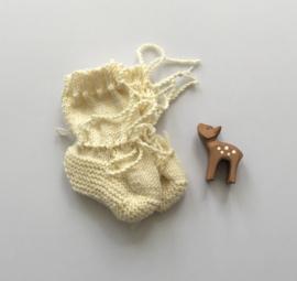 Baby Slofjes Créme 100% Wol, Ideaal voor in de draagzak