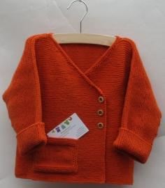 Orange Overslagvestje 100% Merino Wol
