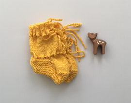 Baby Slofjes Okergeel 100% Wol - Ideaal voor in de draagzak