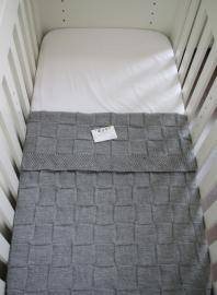 Babydeken Grijs - 100% acryl