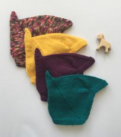 Strikmutsjes met koordjes - 100% Wol - Diverse kleuren