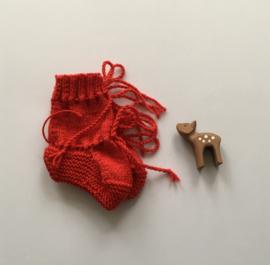 Baby Slofjes Rood 100% Wol - Ideaal voor in de draagzak