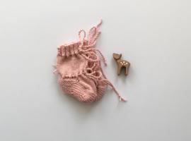 Baby Slofjes Roze 100% Wol - Ideaal voor in de draagzak