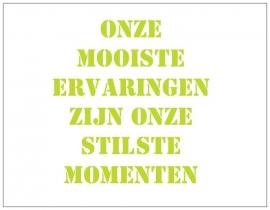 Wenskaart Mindfulness - Stilte