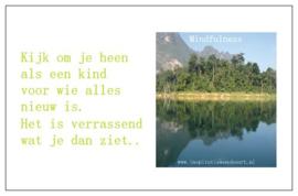 Mindfulness inspiratiekaartje | Kijk om je heen | per 5 stuks
