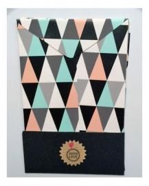 Cadeau zakjes leeg | Driehoeken | per 4 zakjes