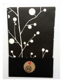 Cadeau zakjes leeg | Japanse bloesem | per 4 zakjes