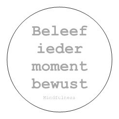 Sticker Mindfulness - Bewust