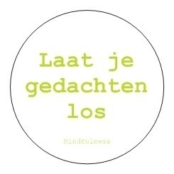 Sticker Mindfulness - Loslaten