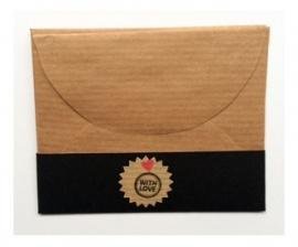 Handgemaakt Cadeau envelopje | kraft | 4 stuks