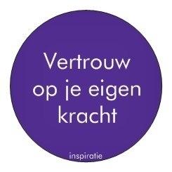 Sticker Inspiratie - Vertrouwen