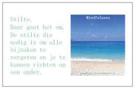 Mindfulness inspiratiekaartje | Stilte | per 5 stuks