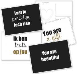 Ansichtkaarten set You are a gift | 4 stuks
