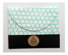 Handgemaakt Cadeau envelopje | Wolkjes | 7 stuks