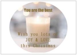 Kerstkaart | Joy & Love | per 5 stuks