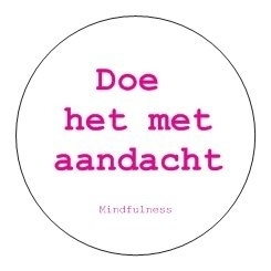 Sticker Mindfulness - Aandacht