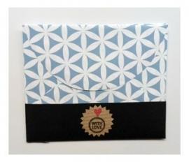 Handgemaakt Cadeau envelopje | Blauw | 3 stuks