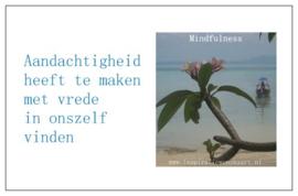 Mindfulness inspiratiekaartje | Aandachtigheid | per 5 stuks