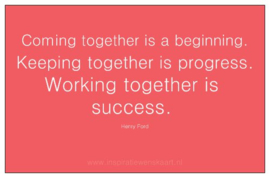 Heart in Business inspiratiekaartje | Working together | per 5 stuks