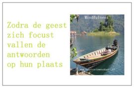 Mindfulness inspiratiekaartje | Focus | per 5 stuks