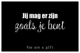You are a gift inspiratiekaartje | Jij mag er zijn | per 5 stuks