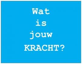 Wenskaart Talent - KRACHT