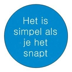 Sticker Inspiratie - Het is simpel