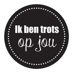 Sticker You are a gift | Ik ben trots op jou