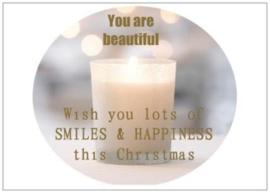 Kerstkaart | Smiles & Happiness | per 5 stuks