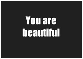 Ansichtkaart | You are beautiful